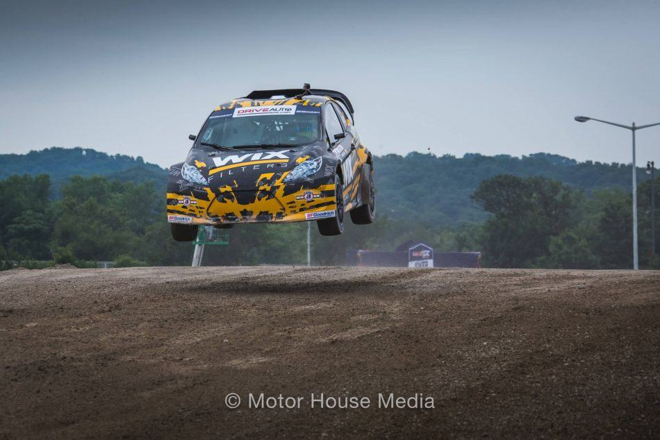 Alex Keyes Winning in the RedBull Global RallyCross Series
