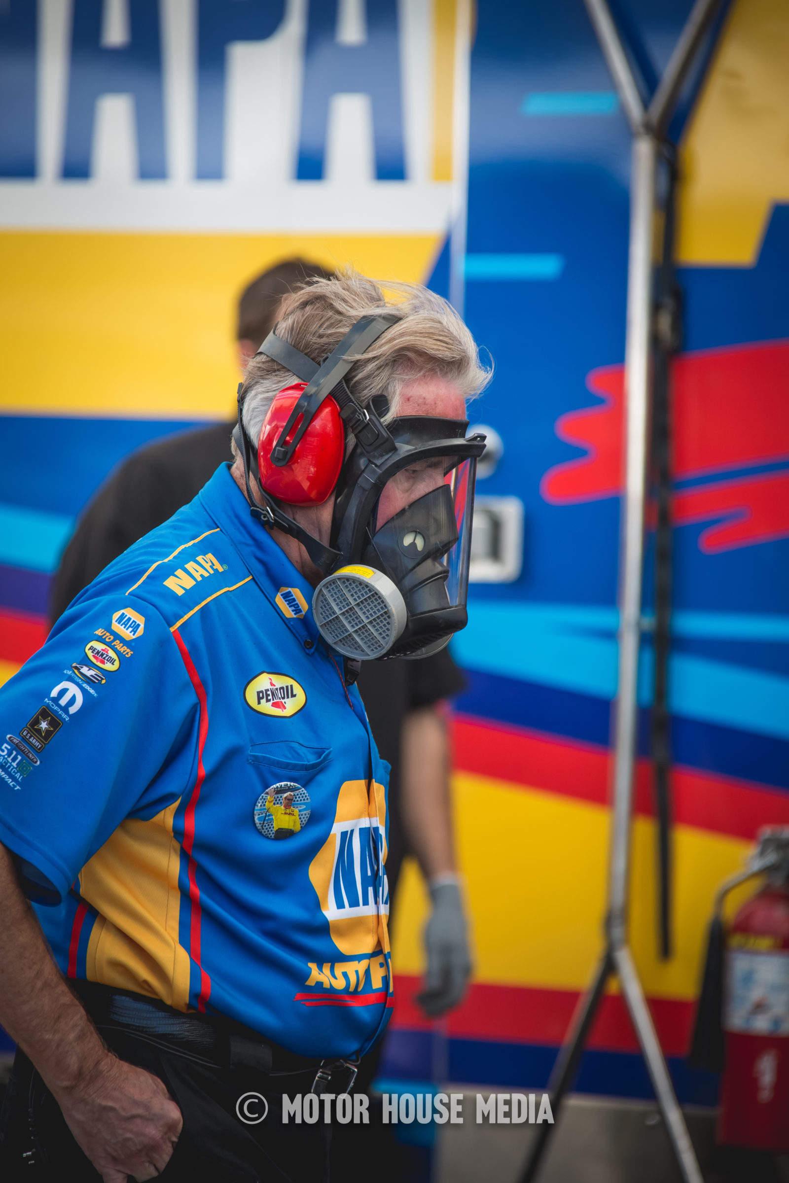 NHRA Top Fuel Nitro fumes