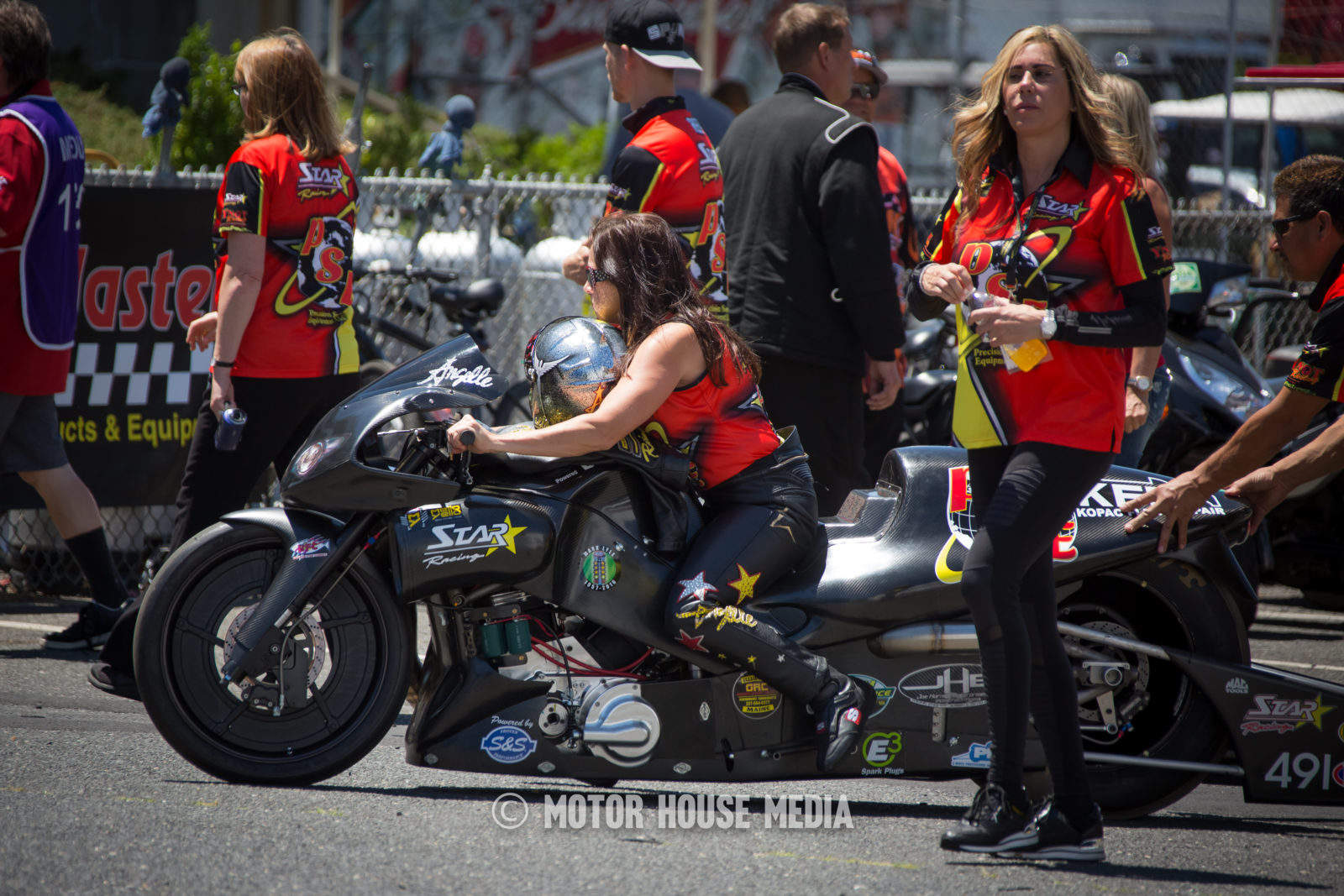 NHRA Angelle Sampey Pro Stock Motorcycle Champion
