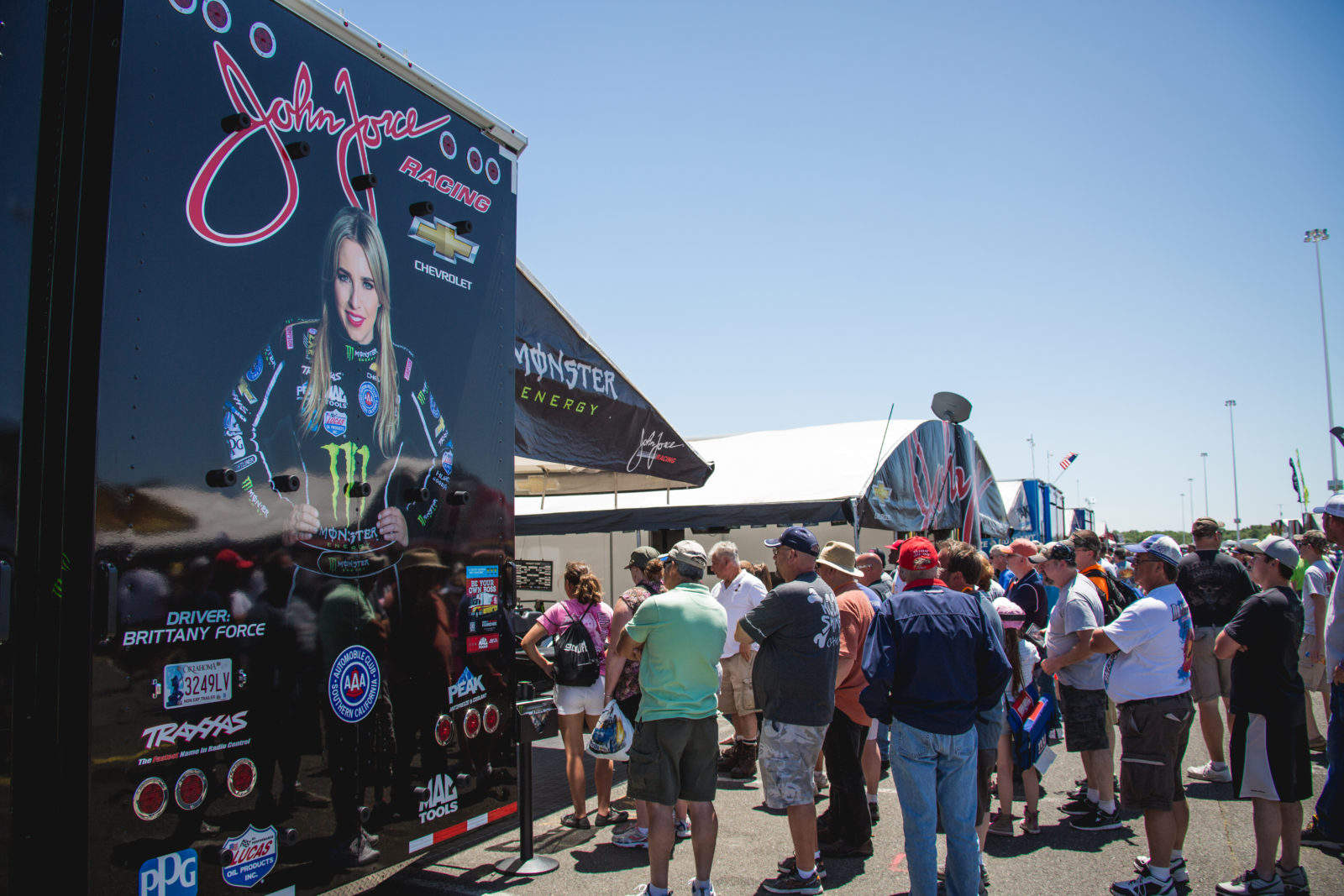 NHRA's Brittany Force pits