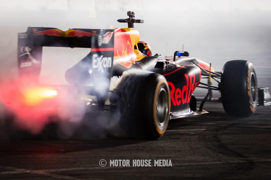 Formula 1's Max Verstappen tears it up at Sema Ignited