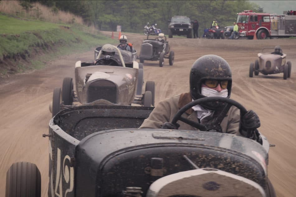 Chasing Vintage race Cars at the Circle M Ranch Speedway Reunion