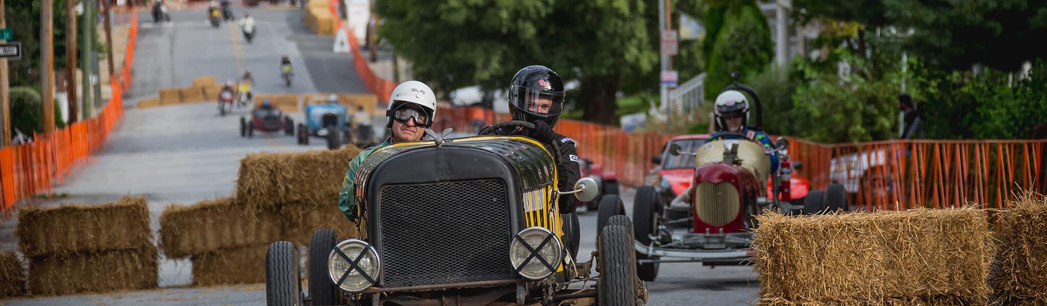 The cars of The Coatesville Vintage Grandprix