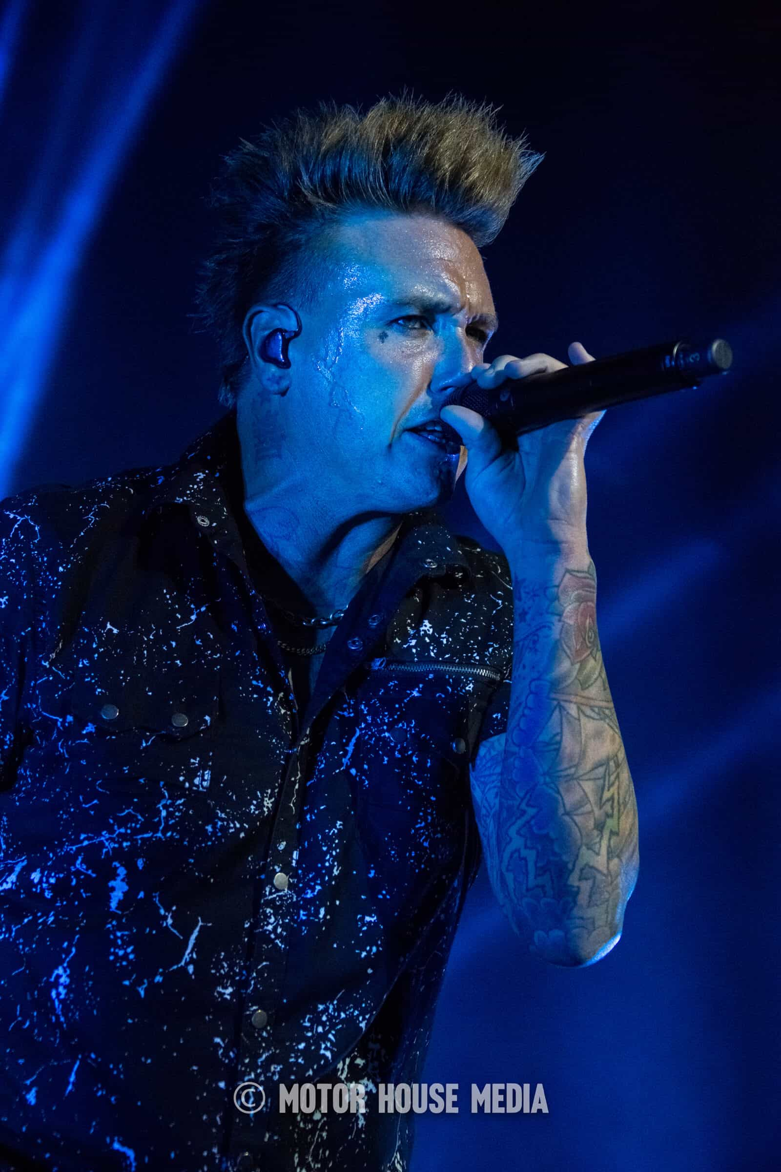 Jacoby Shaddix cast in blue light