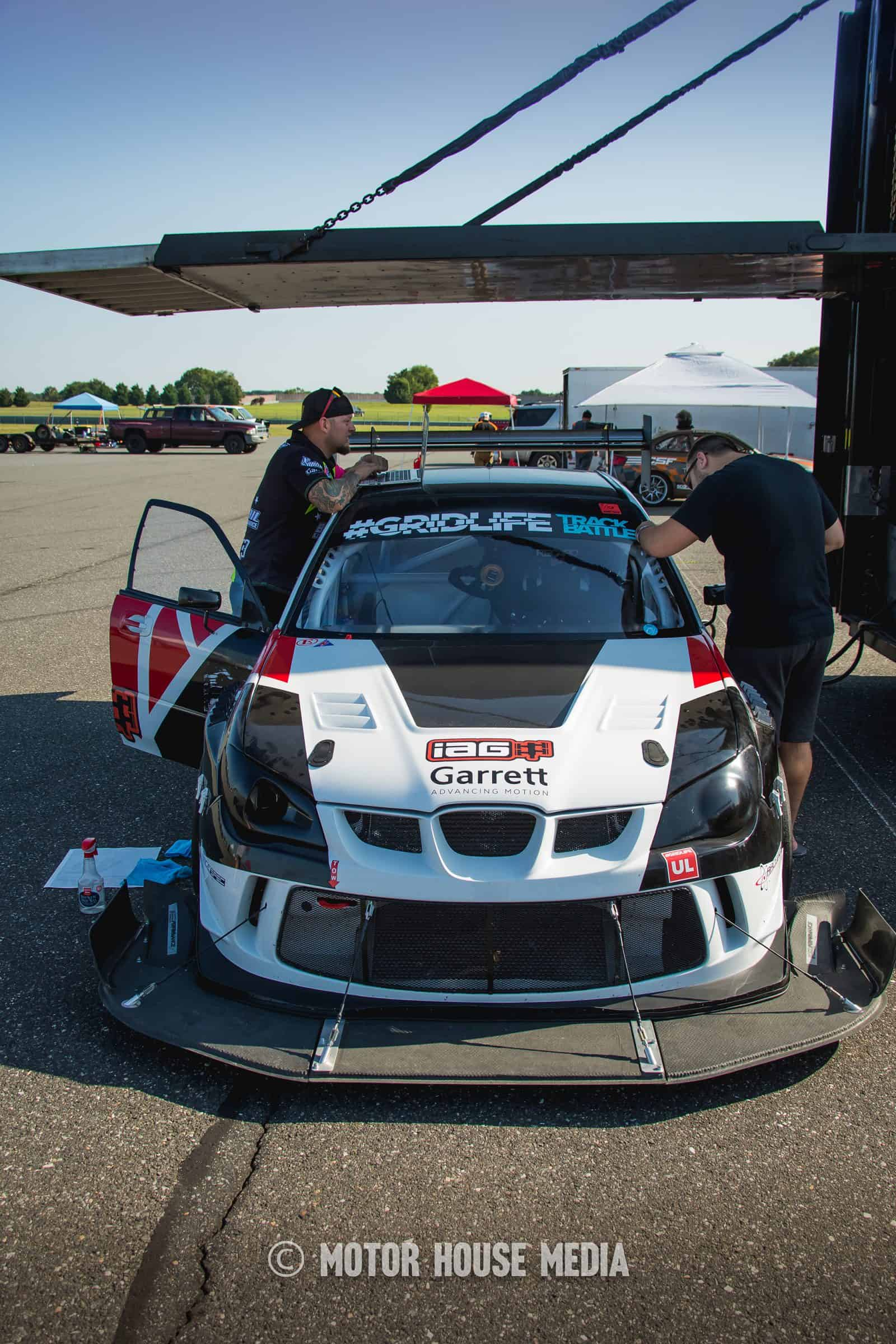 Global Time Attack car in the pits