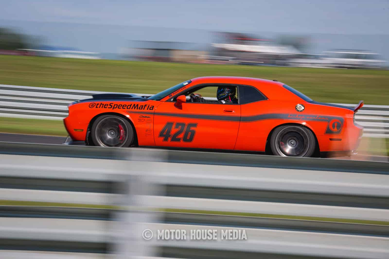 Dodge Challenger racing in the Global Time Attack