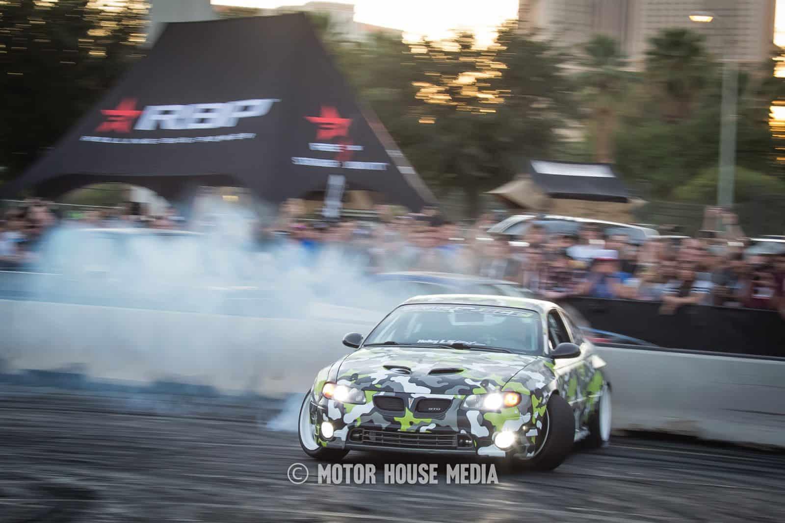 Pontiac GTO Drifting at Hoonigan Sema Burnyard