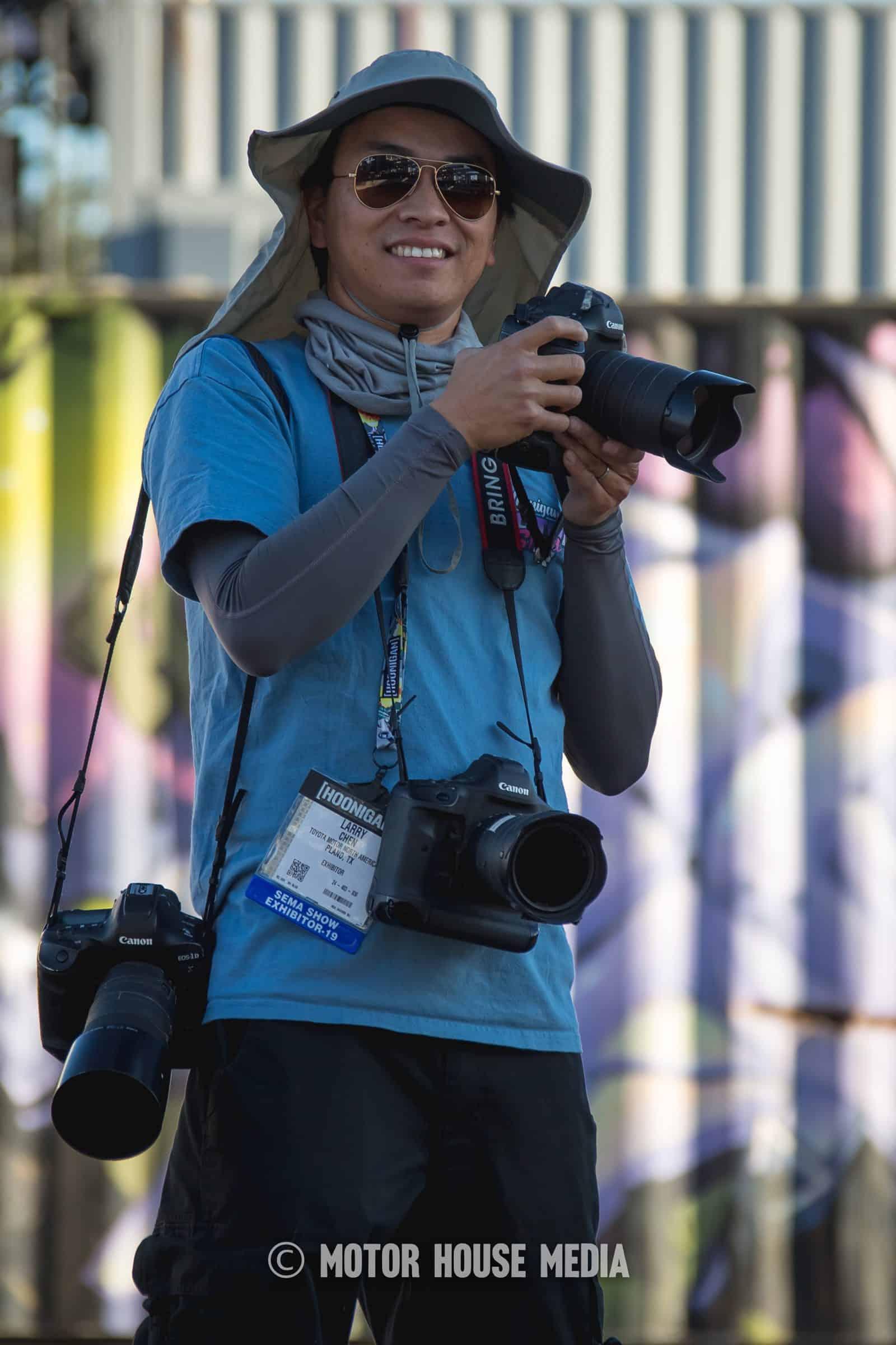 Larry Chen capturing hooning