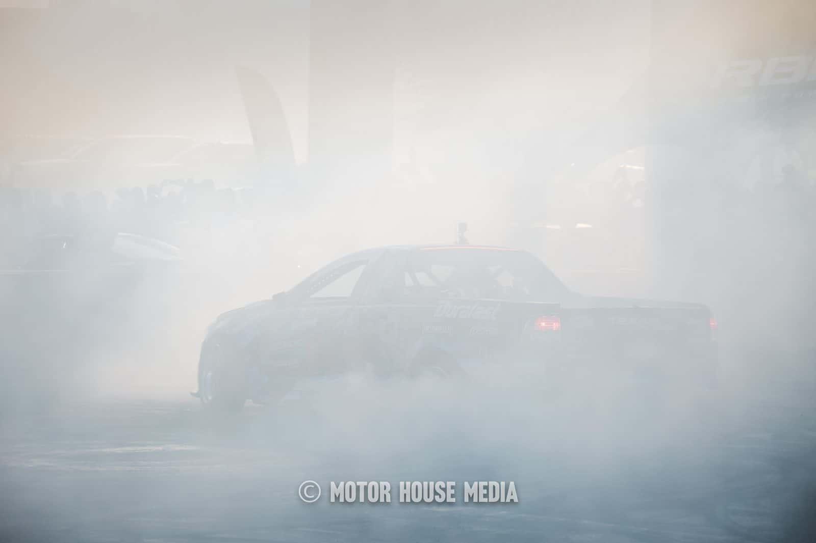 Josh Robinson drifting his Holden Ute