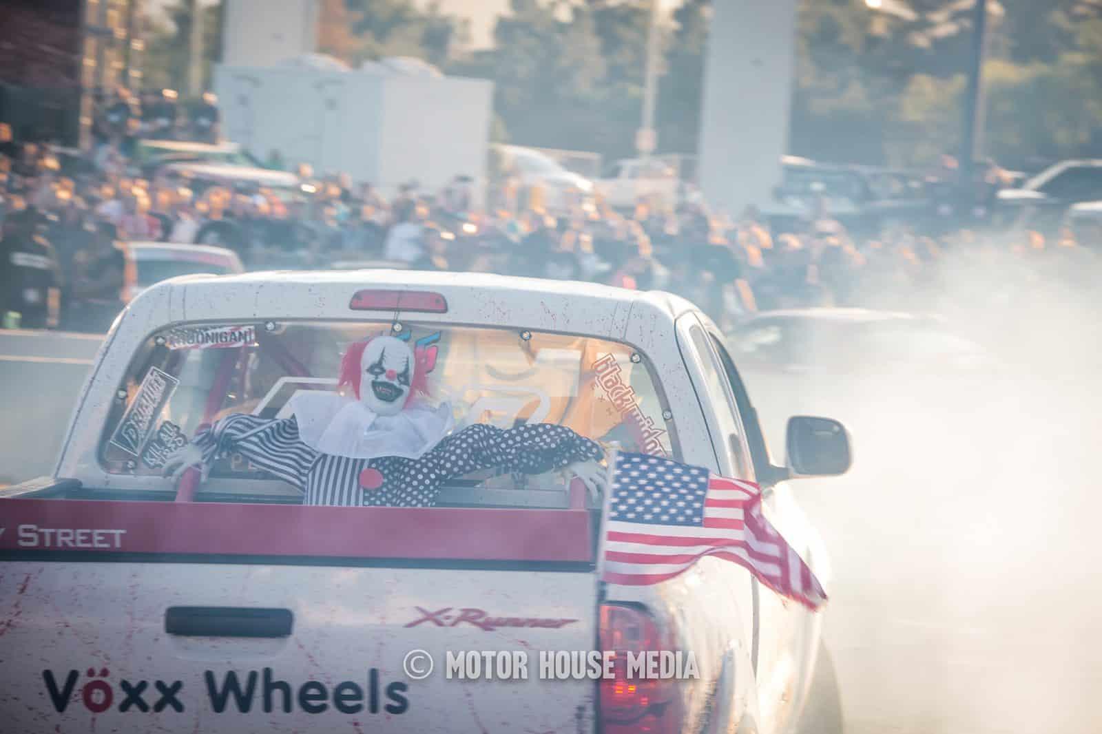 Brian Nimmo the Drift Slayer burning tires down