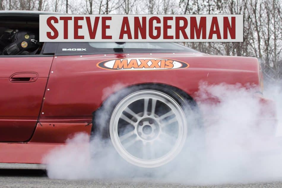 Steve Angerman burning through a set of Maxxis tires