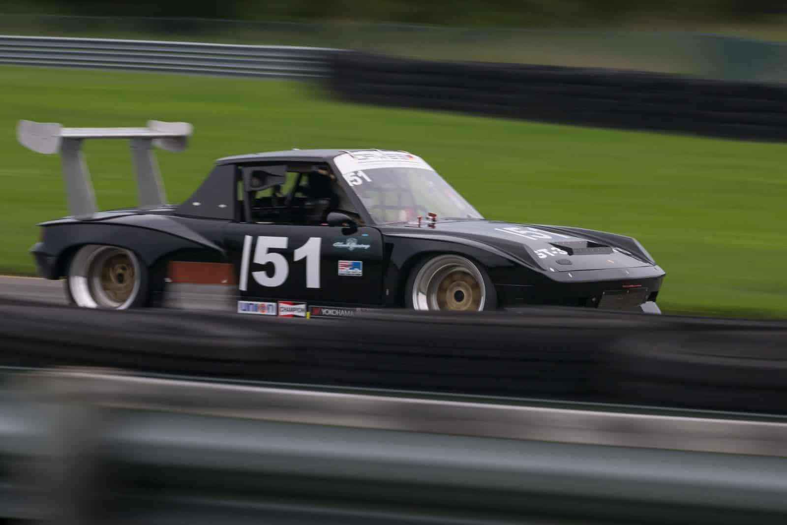 914 Porsche racing with the PCA at NJMP