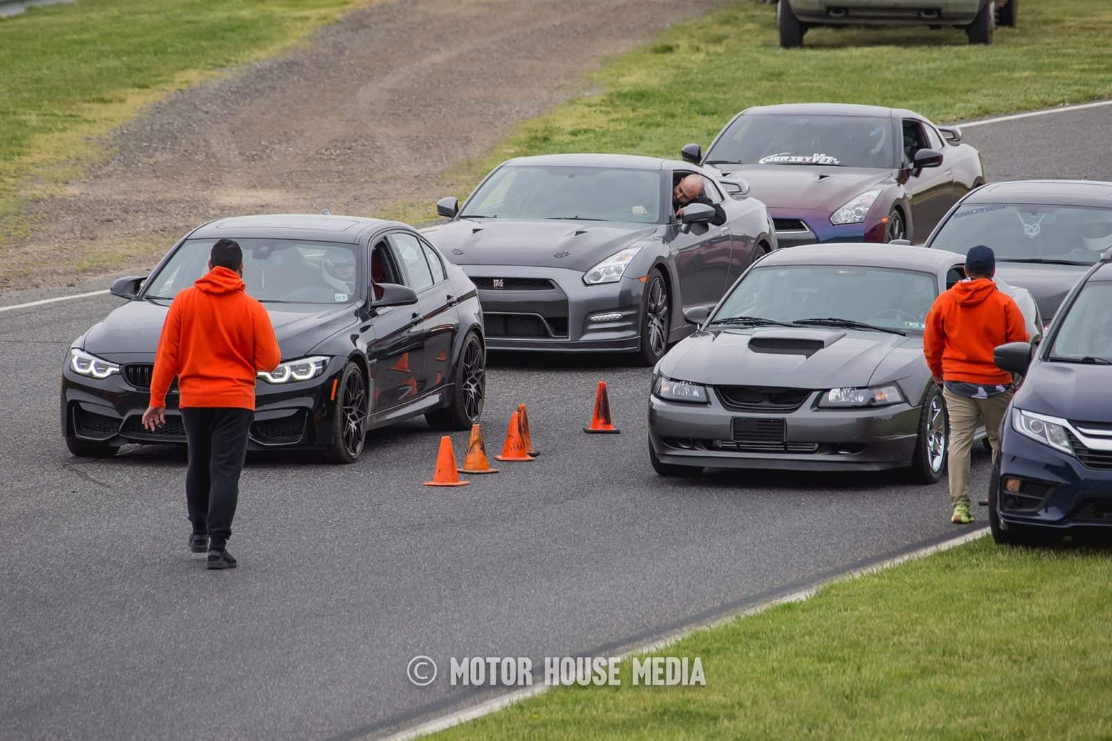 Roll racing start line