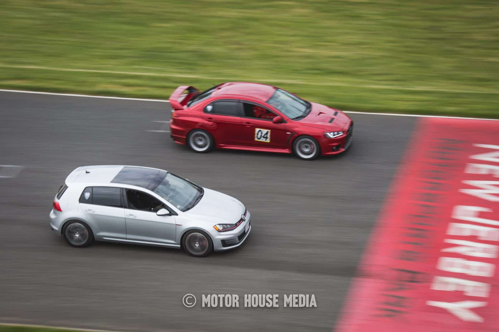 VW and Lancer Roll Racing