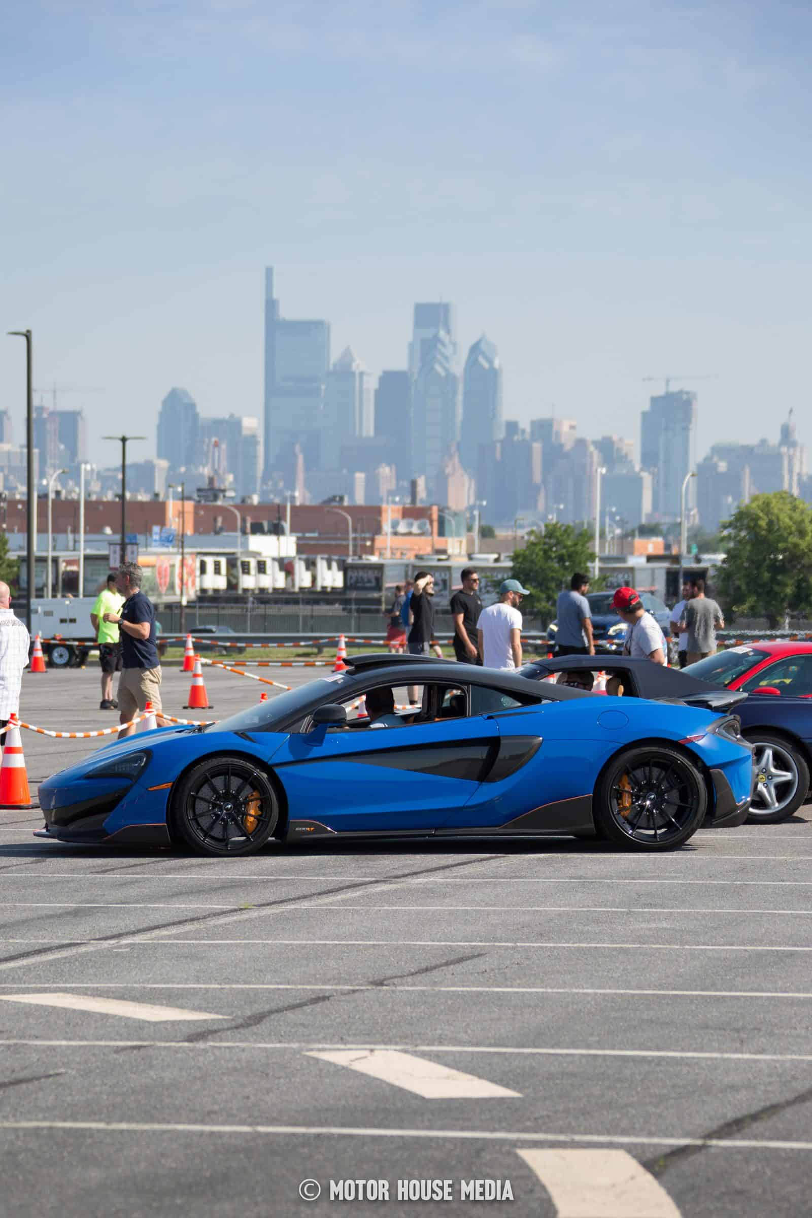Super car with Philly in the background