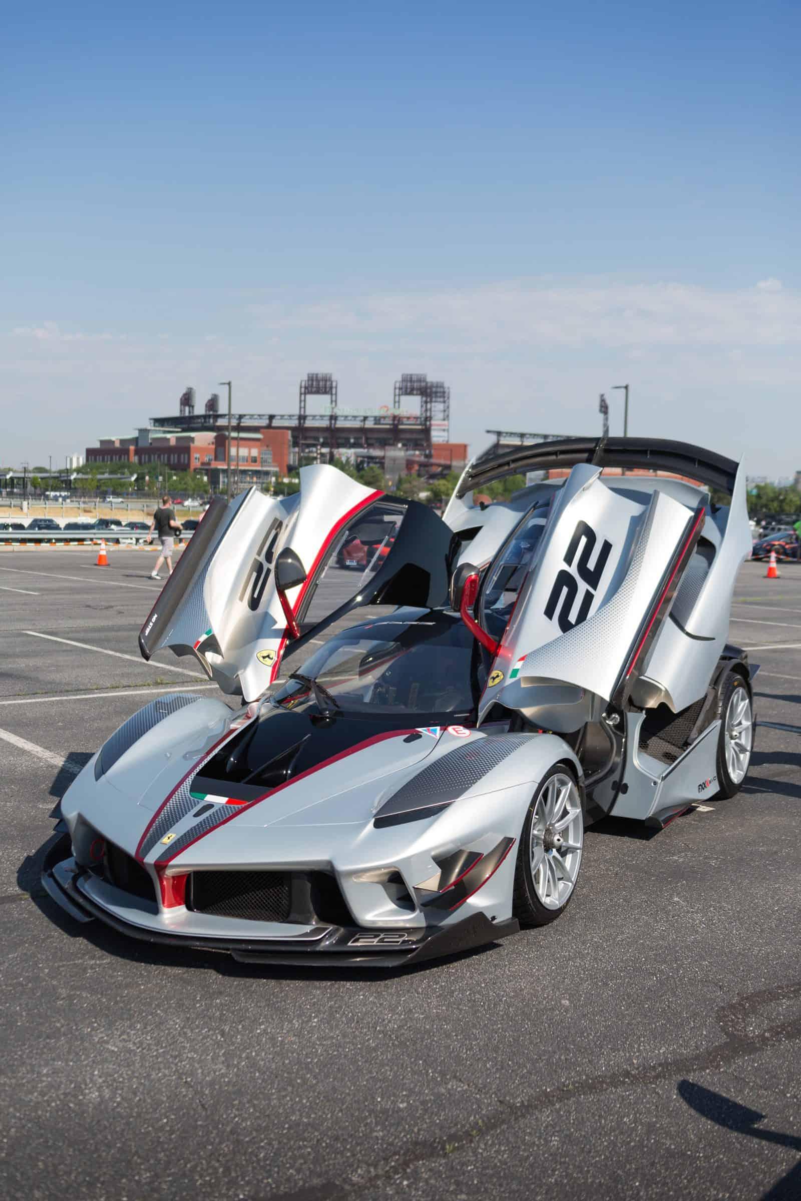 Ferrari FXXK in the Supercar show near Philly stadiums