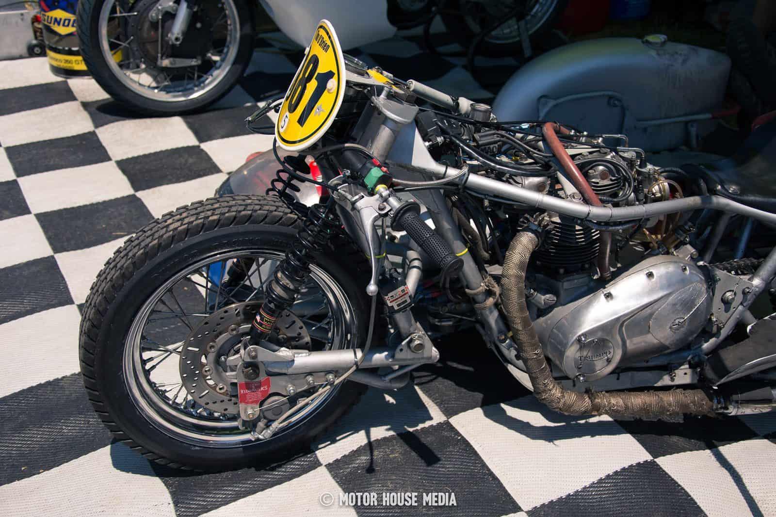 AHRMA vintage Sidecar bikes