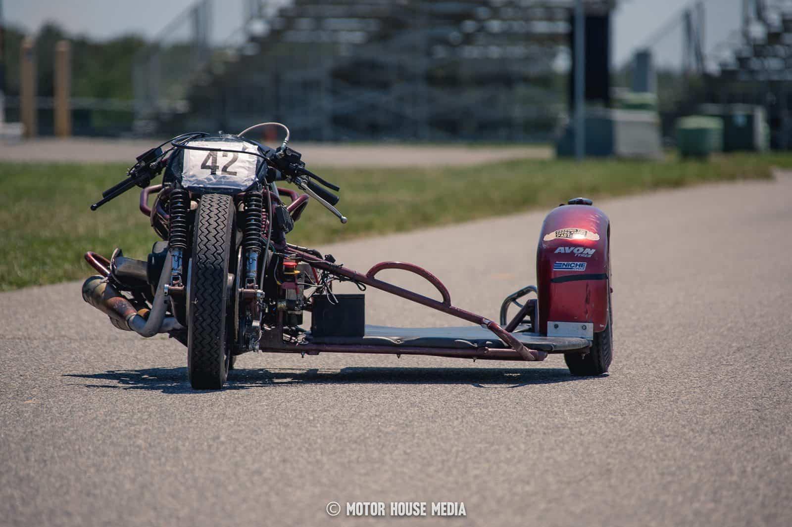 AHRMA vintage Sidecar bike
