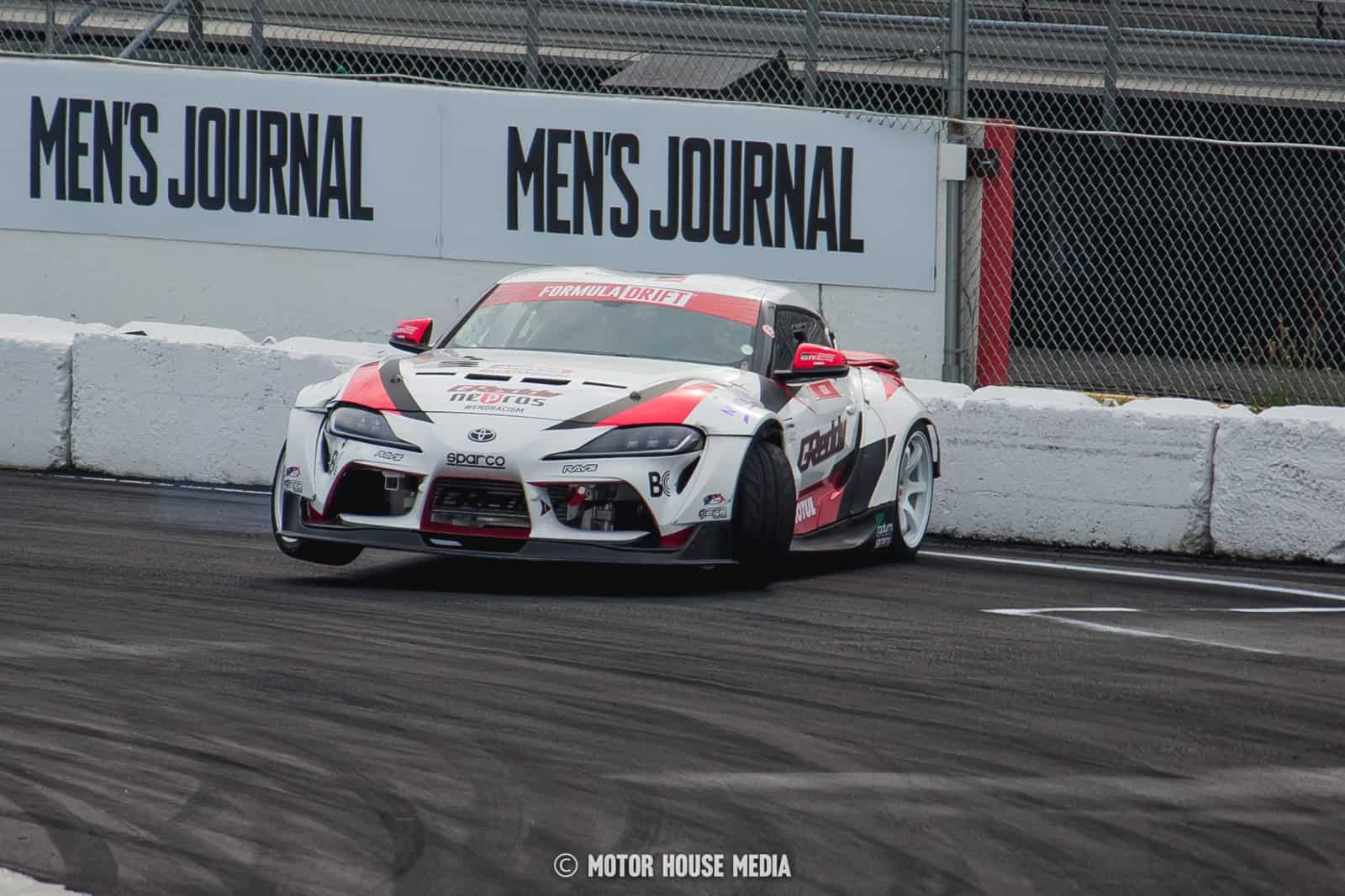 Ken Gushi in his Greddy Formula Drift car