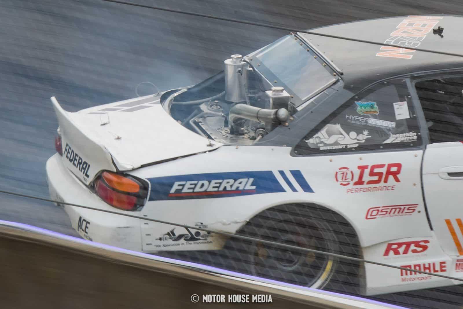 Close up of Johnathan Nerren Formula Drift car