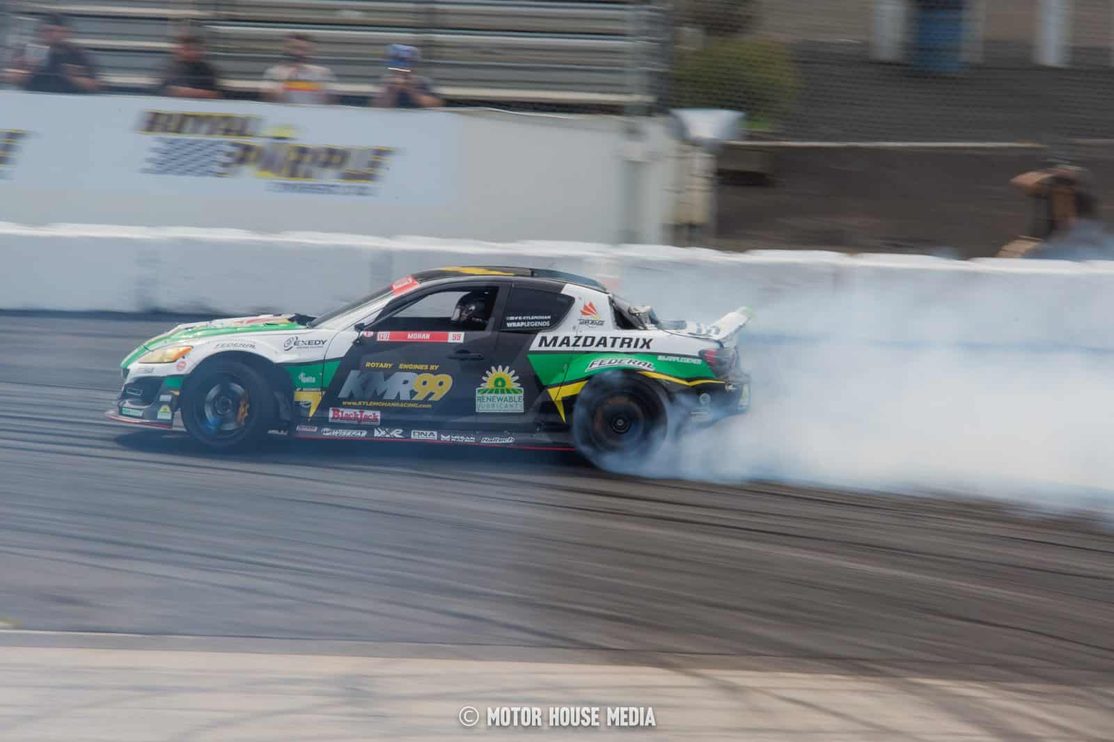 Kyle Mohan in his Mazda drift car
