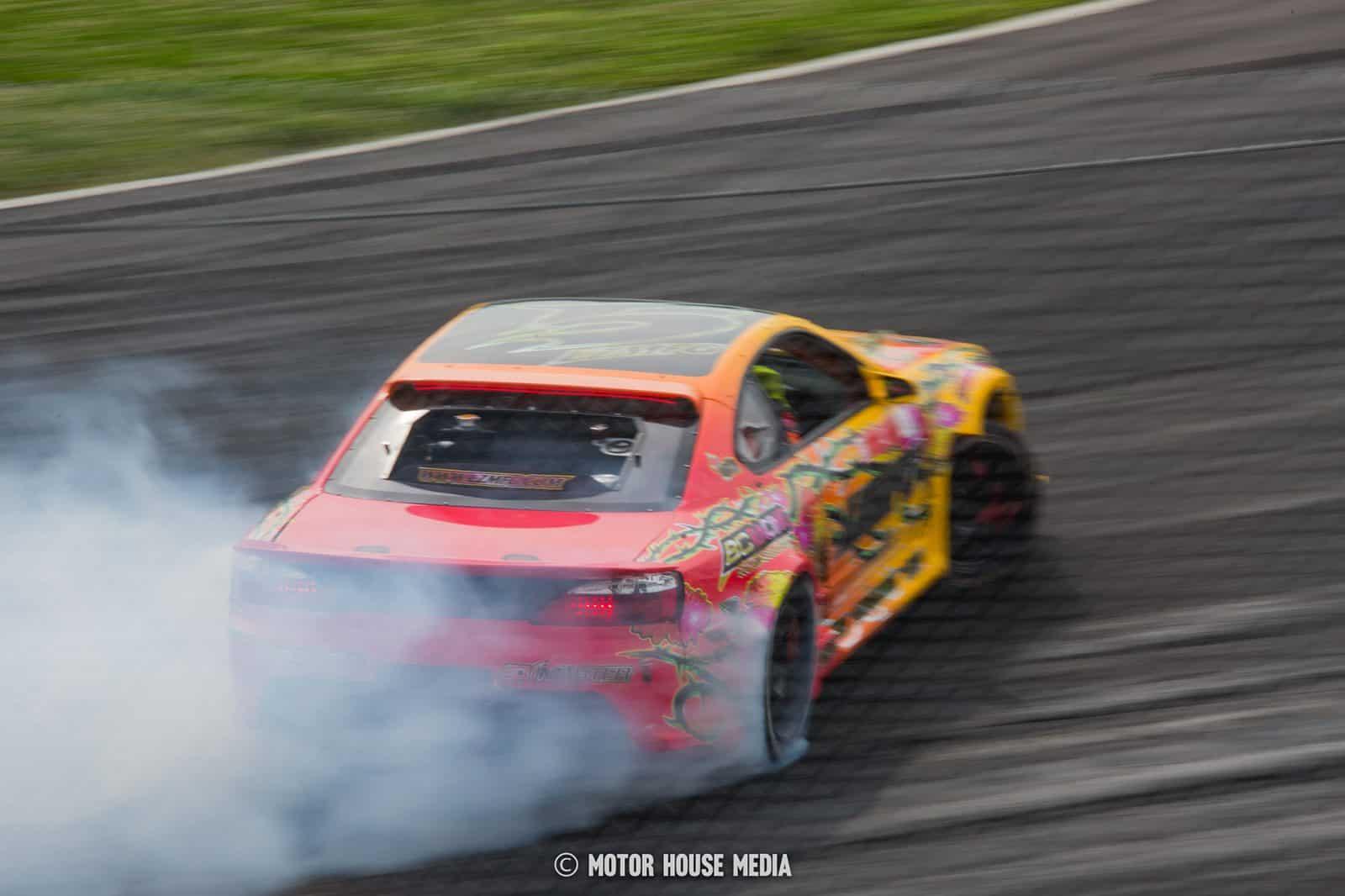 Adam LZ in his LZMFG Formal Drift car