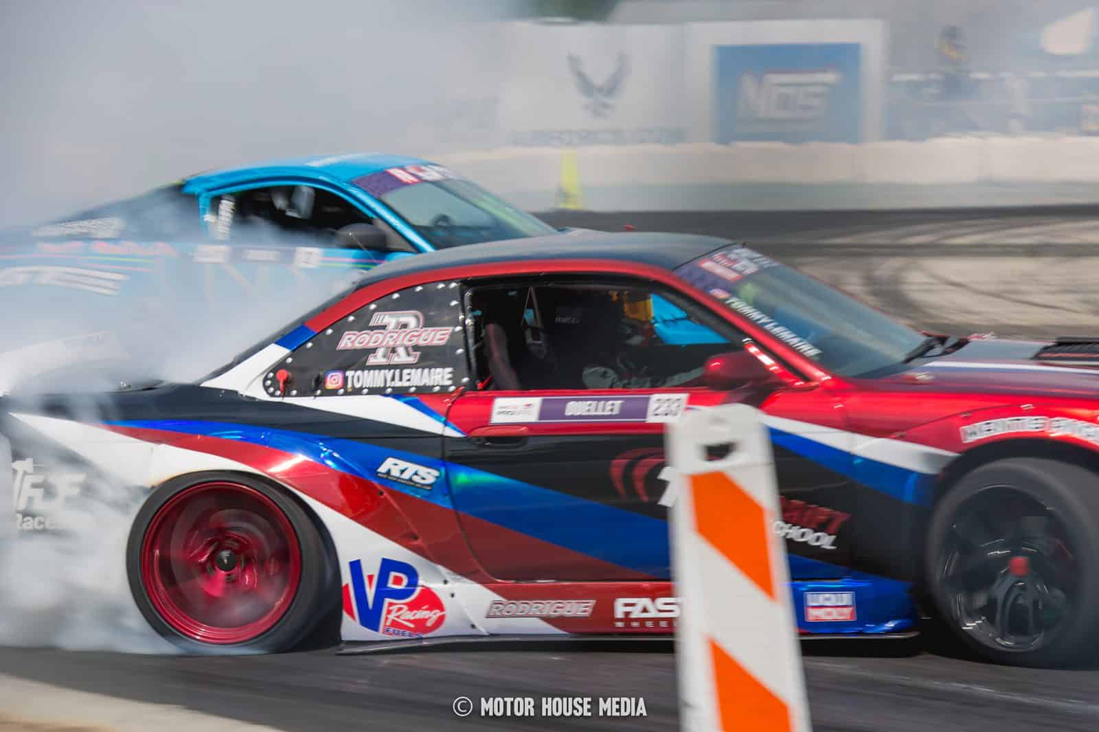 Tommy Lemaire shredding tires in his formula drift car