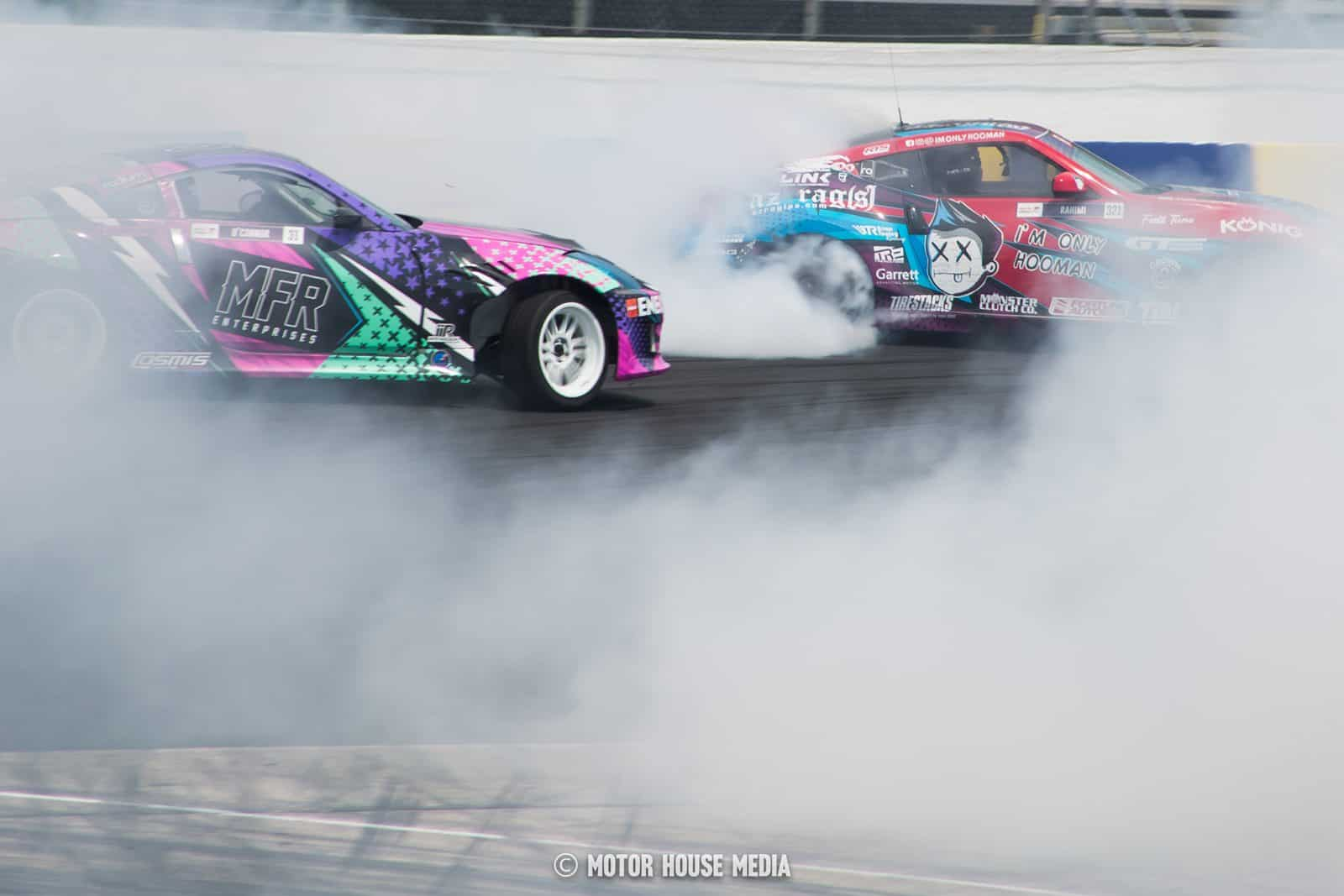 Hooman Rahimi & Rye O'connor of Formula Drift lost in the haze