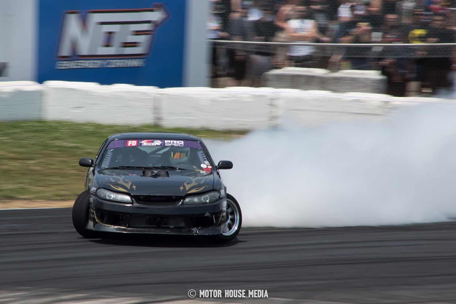 Derek Madison in his Fuellab Formal Drift car