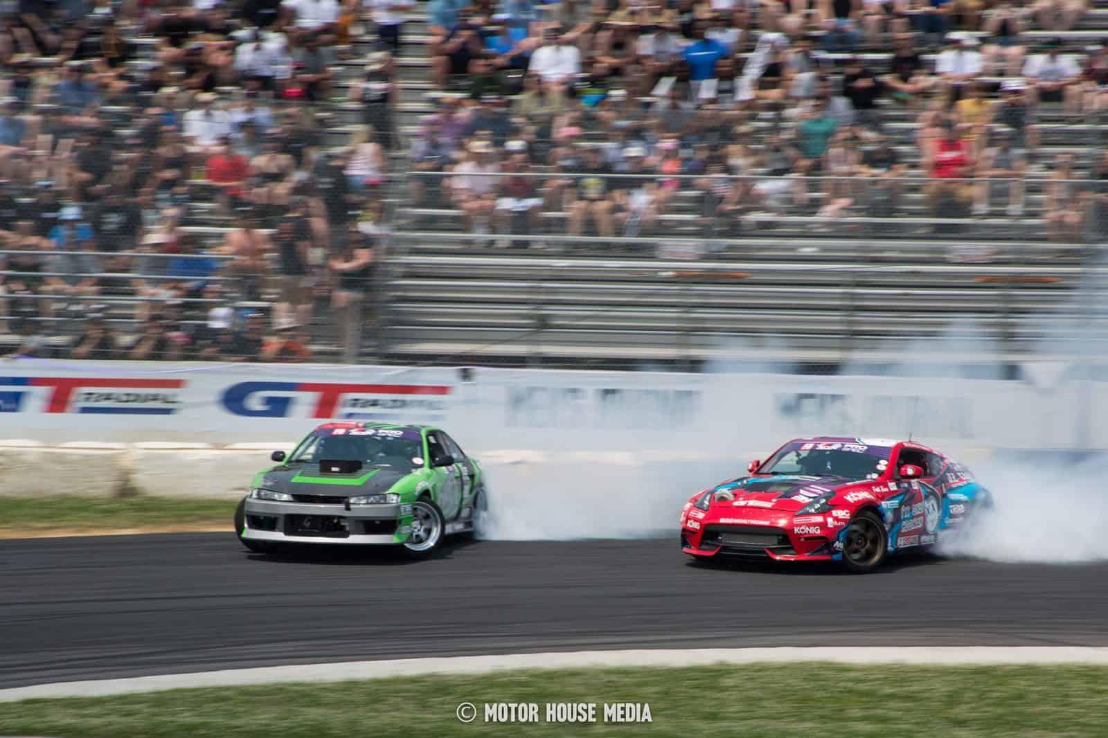 Formula Drift racers at Englishtown NJ