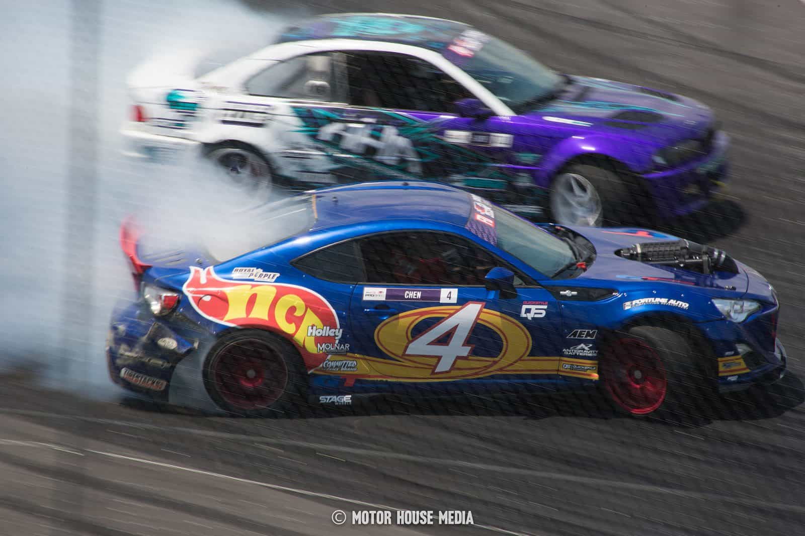 Nate Chen in his Formula Drift car