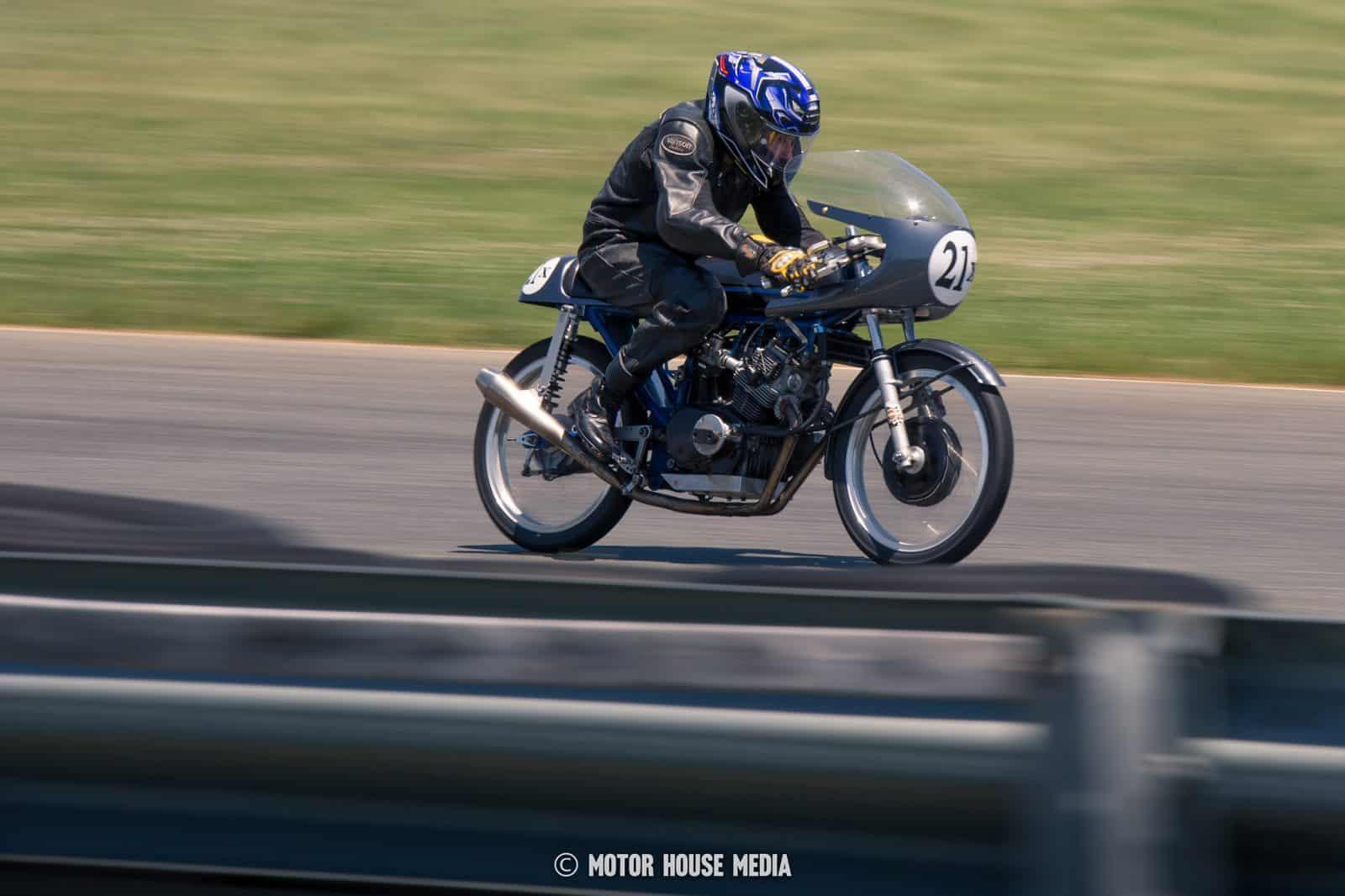 AHMRA vintage bike racer