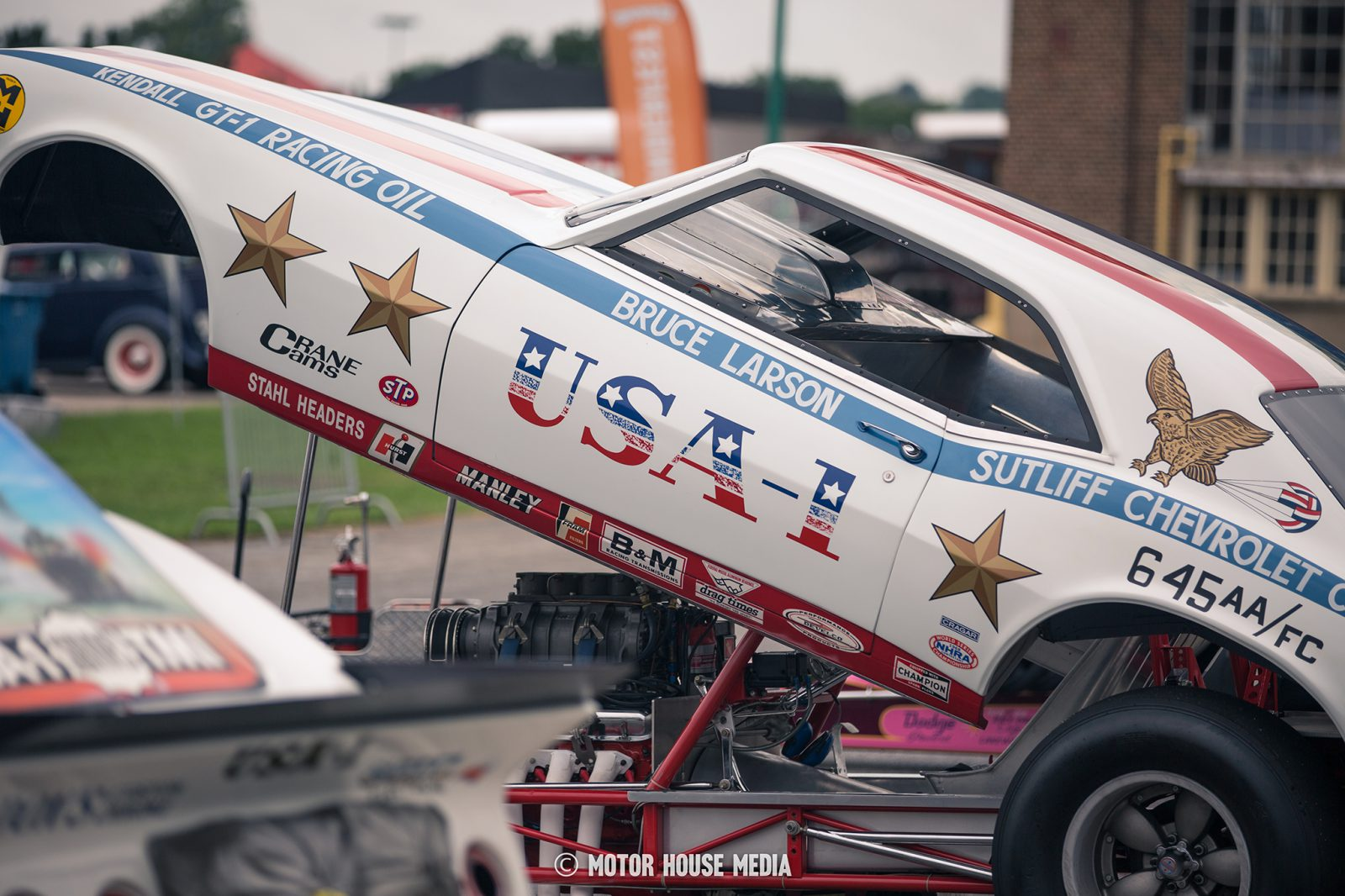Bruce Larson's Vintage Funny Car during Thunder Fest by Summit racing at the GoodGuys car show