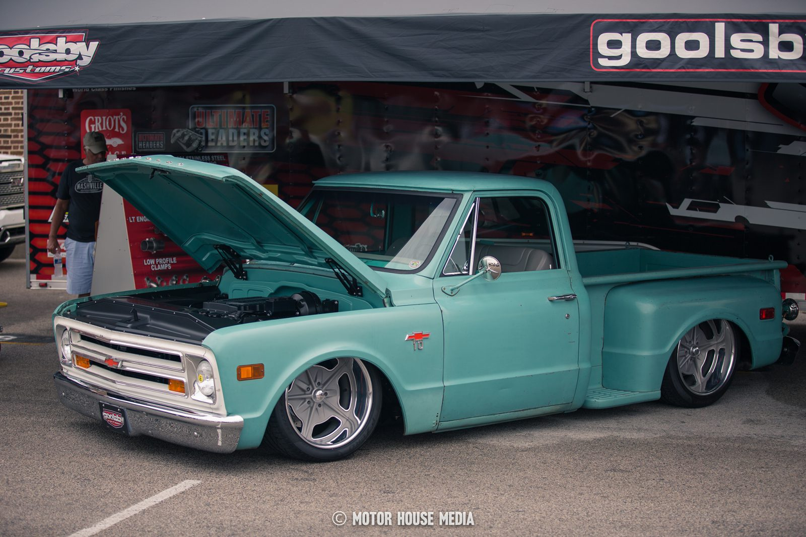 Hot rod truck at the Good Guys show